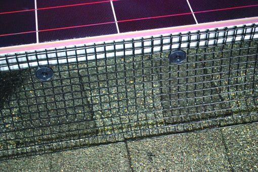 Black PVC- Coated Solar Panel Mesh